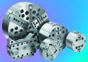 Multi-Spindle Chucks in a variety of 2 and 3 jaw configurations are most commonly used in lathe work.
